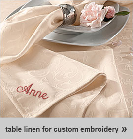 tablecloths for custom embroidery